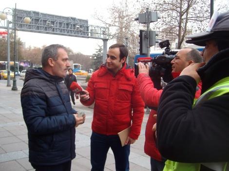 Госканал ТВ ТРТ берёт интервью в рамках новостей о нац.лотерее