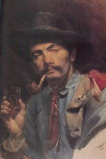 """Авни Лифиж """"Автопортрет с трубкой"""", 1908"""