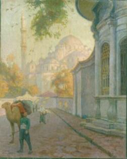 """Авни Лифиж """"Возле мечети Ватих Султан"""", Стамбул, 1908"""