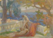 "Авни Лифиж ""Три девушки на балконе"", 1900 года"