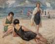 """Ибрагим Чаллы """"Женщины на пляже"""", 1947-50гг"""