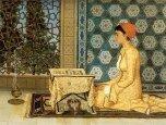"Осман Хамди Бей ""Девушка, читающая Коран"""